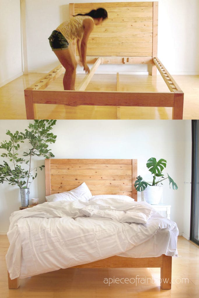 West Elm Style DIY Bed Frame and Headboard