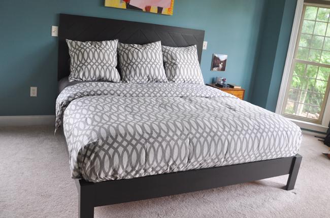 DIY Hotel Style Black Bed Frame