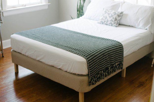 DIY Bed Frame Made From Foundation
