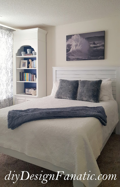 DIY Distressed Finish Farmhouse Bed