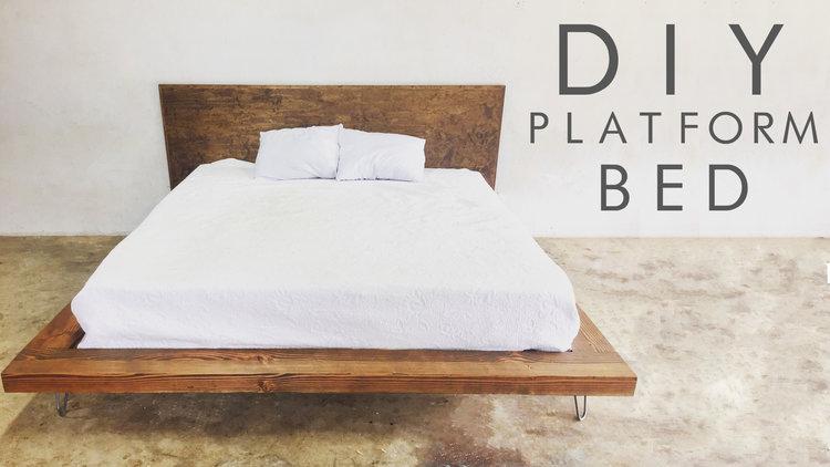 DIY Platform Floating Bed
