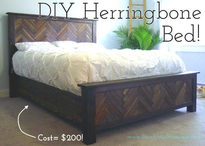 DIY Herringbone Bed