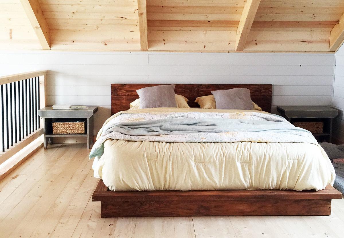 Rustic Modern Platform Bed DIY