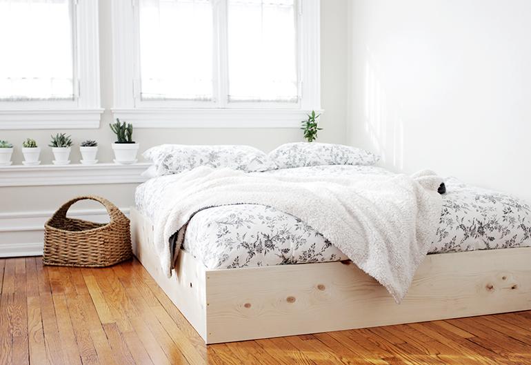 DIY Bed Foundation Low to Floor