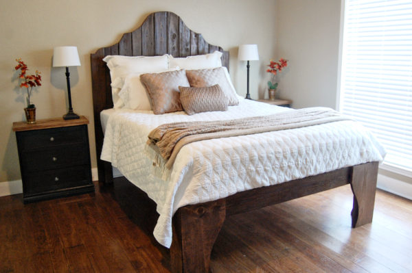 DIY Wood Bed Frame With Handcrafted Look