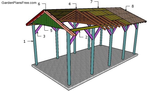 Wooded DIY Carport Plans