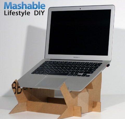 Cardboard DIY Laptop Stand