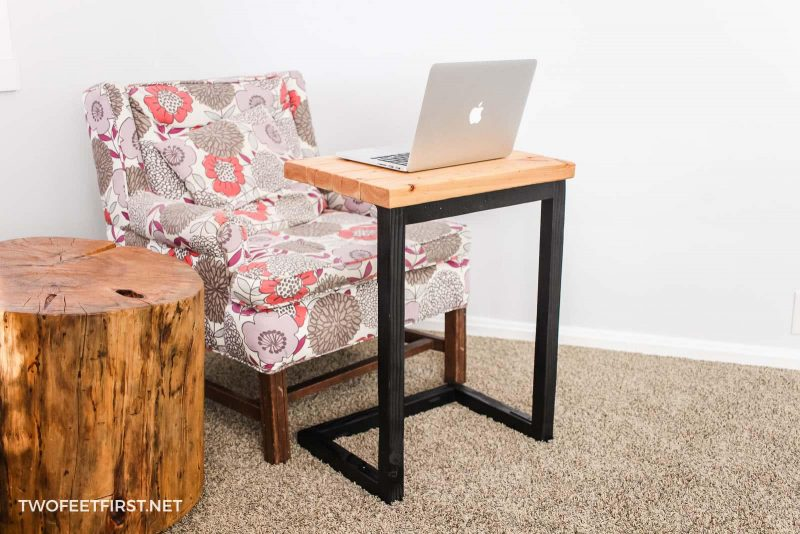 DIY Laptop Sofa Table