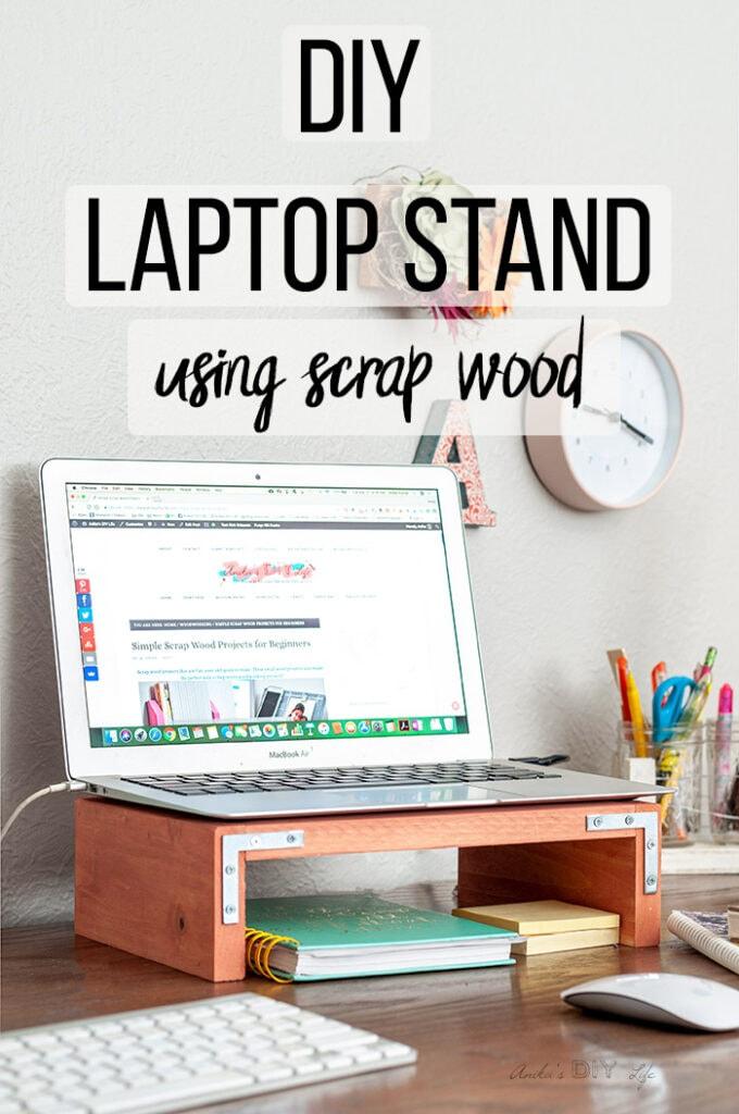Scrap Wood DIY Laptop Stand