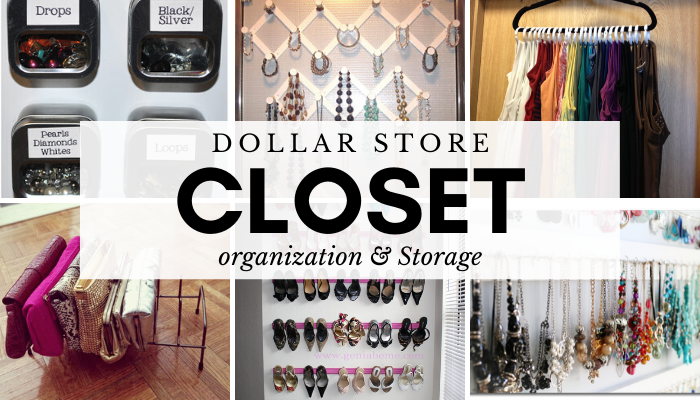 Dollar Store Closet Organization and Storage Ideas