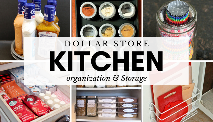 Dollar Store Kitchen Organization and Storage Ideas