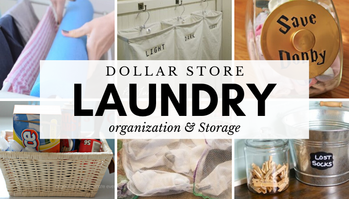 Dollar Store Laundry Room Organization Hacks