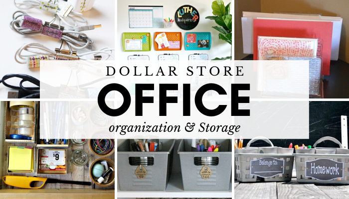 Dollar Store Office and School Supply Organization and Storage