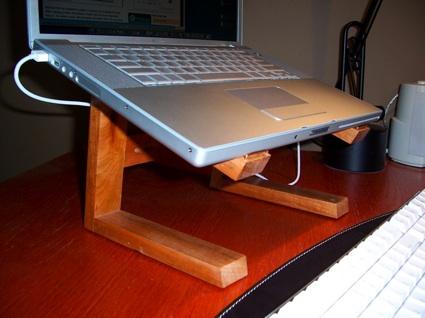 Wood DIY Laptop Stand