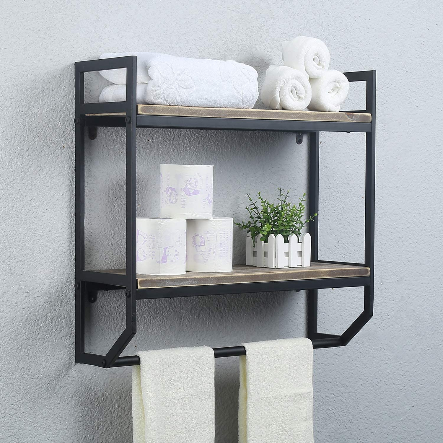 Industrial Over the Toilet Storage Idea