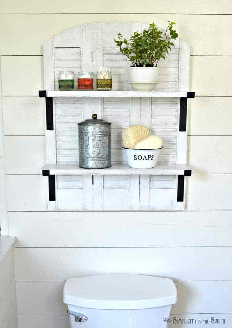 Bathroom Storage Made With Shutters