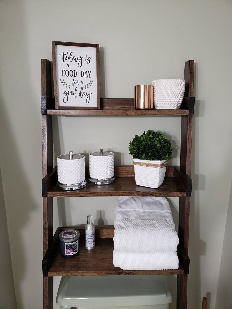 Bathroom Wood Floating Shelves