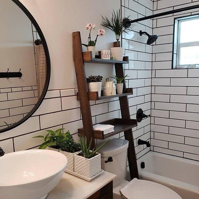 Bathroom Leaning Shelves