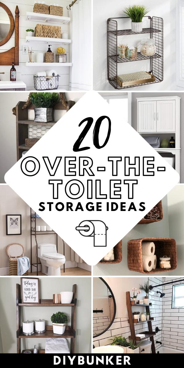 20 Over the Toilet Storage Ideas