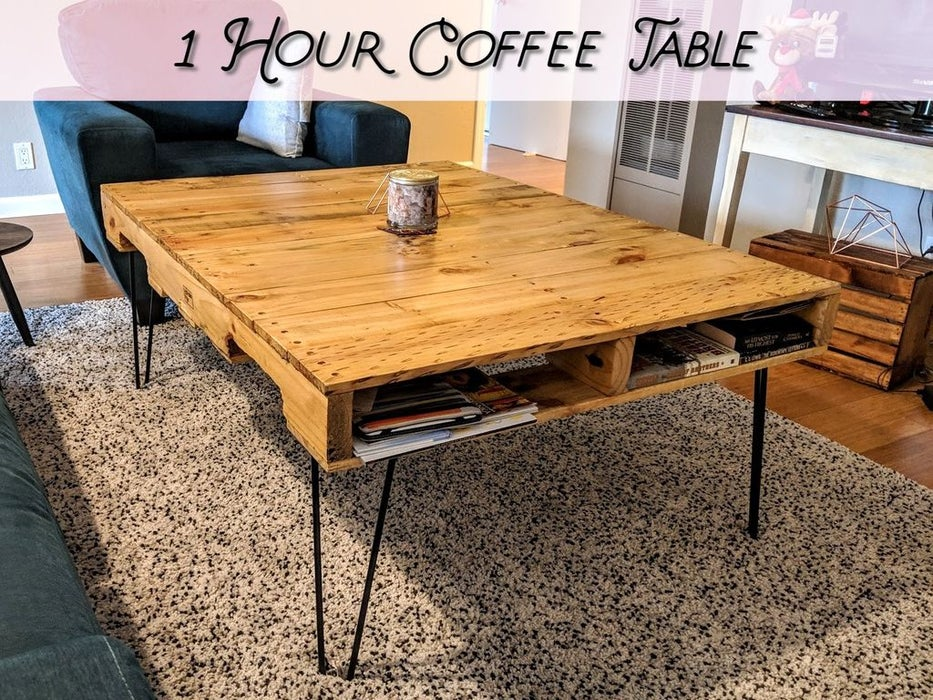 Easy 1 Hour DIY Coffee Table Idea