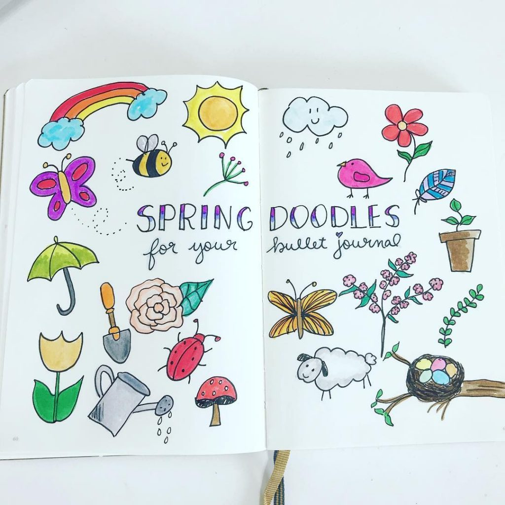 Rainbows and Sunshine Spring Doodles