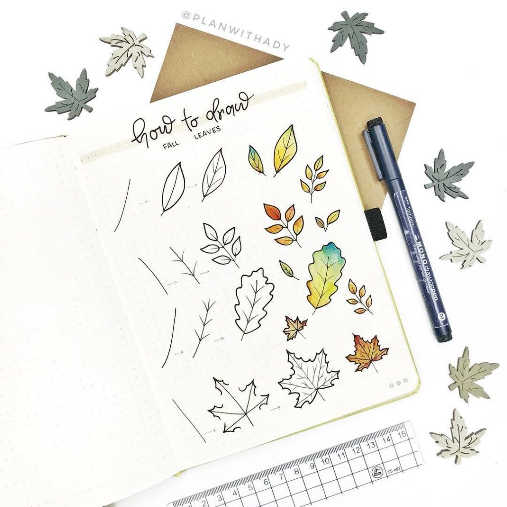 How to draw fall leaves