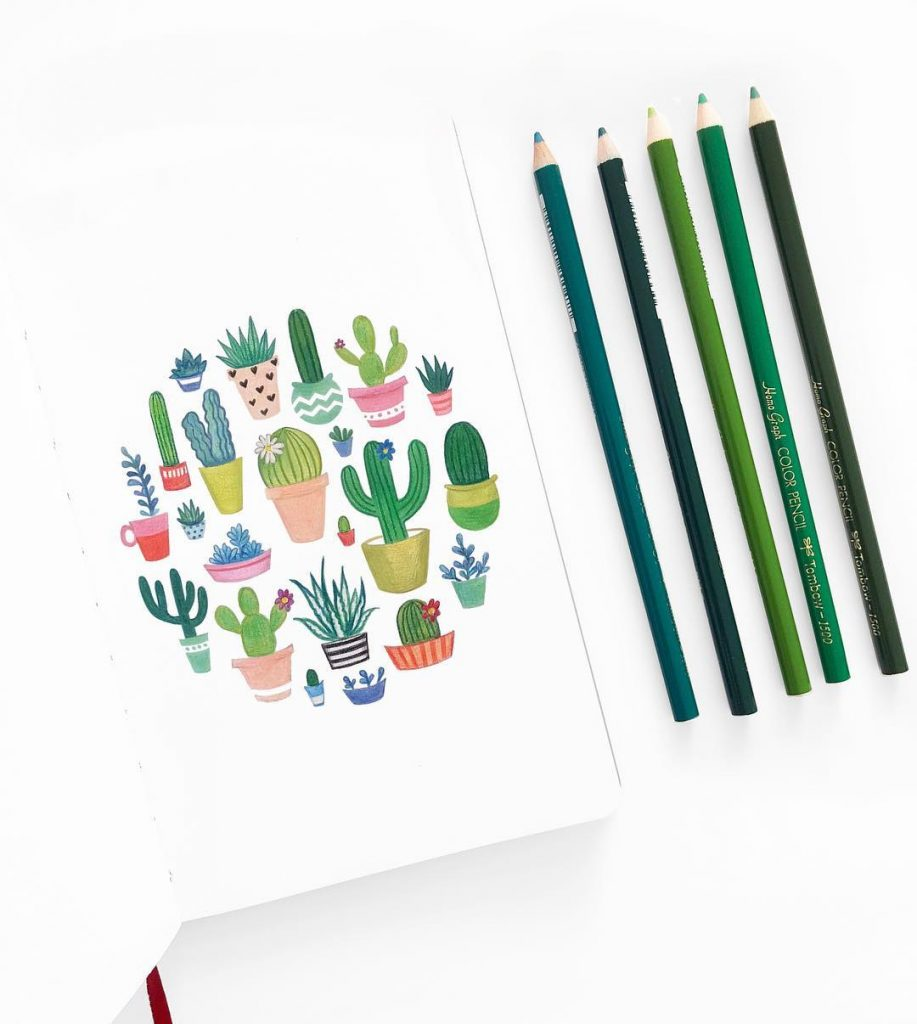 Potted Cacti Doodles