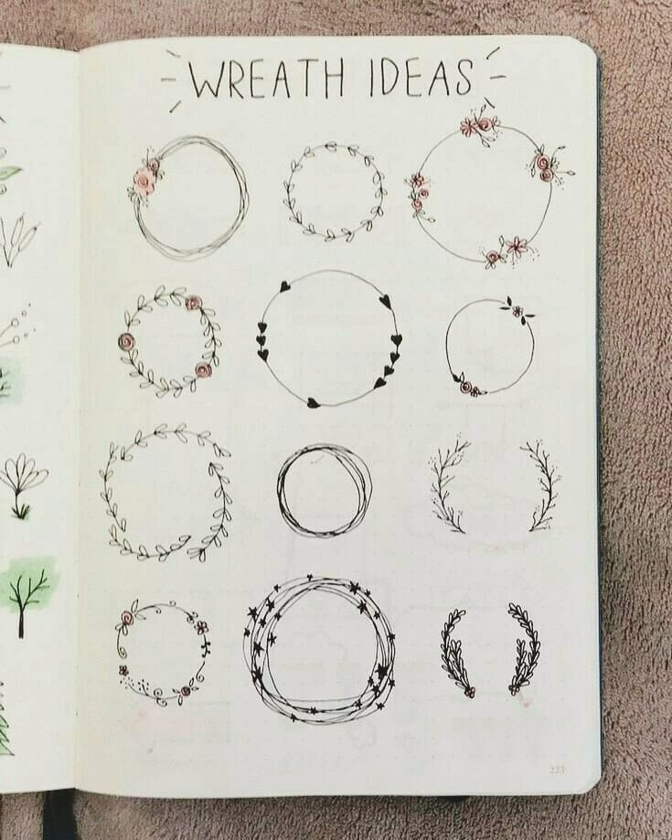 Wreath Doodles for Spring