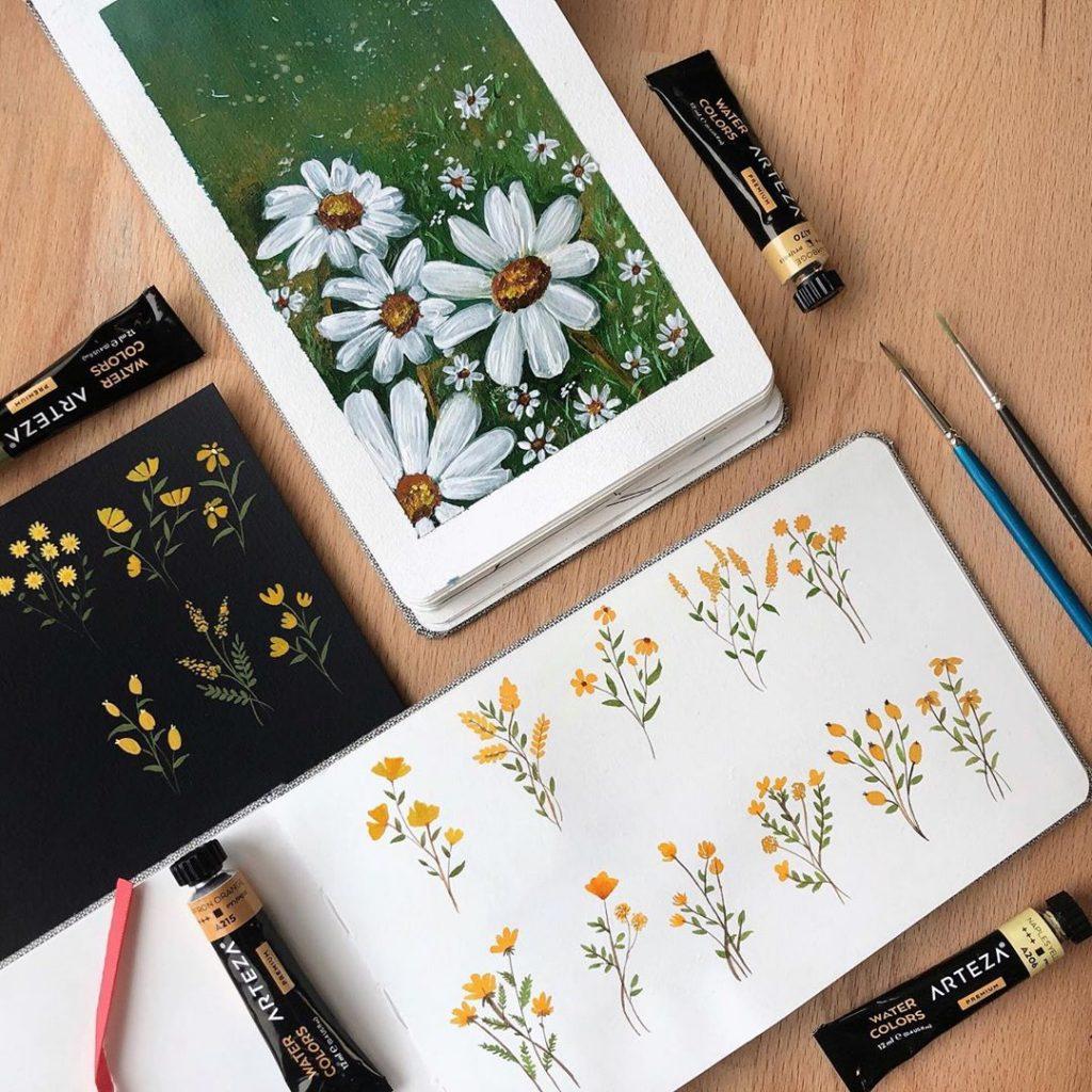 Spring Flower Doodles