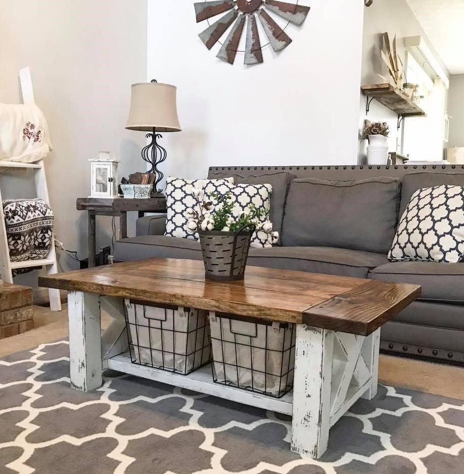 Chunky Wood Farmhouse Coffee Table