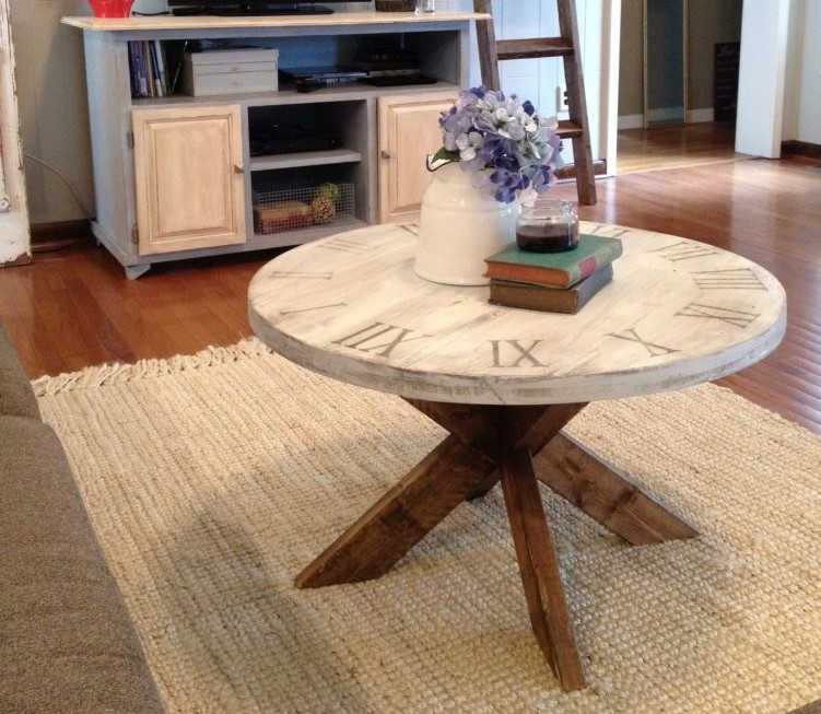 DIY Clock Themed Coffee Table