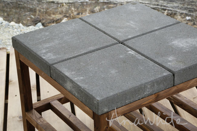 DIY Coffee Table With Concrete Top