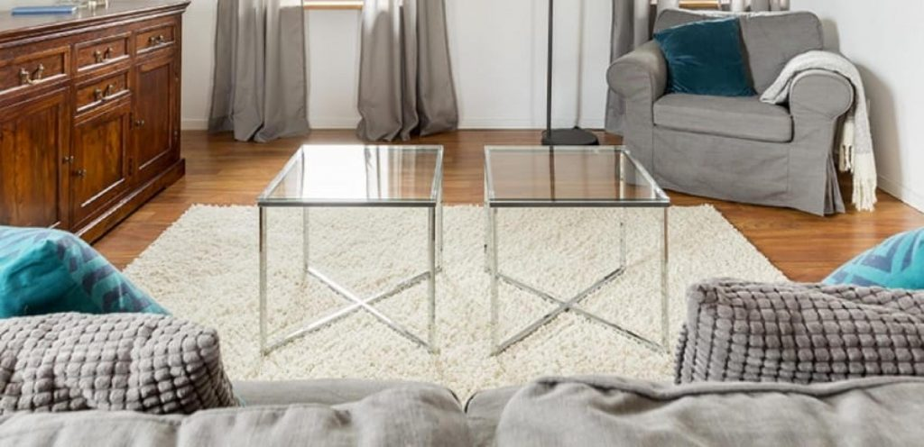 DIY Modern Glass Coffee Table