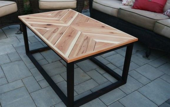 DIY Chevron Coffee Table