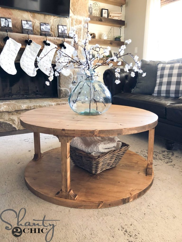 Round DIY Coffee Table