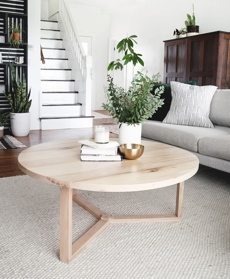 Modern Wood Round Coffee Table Plans