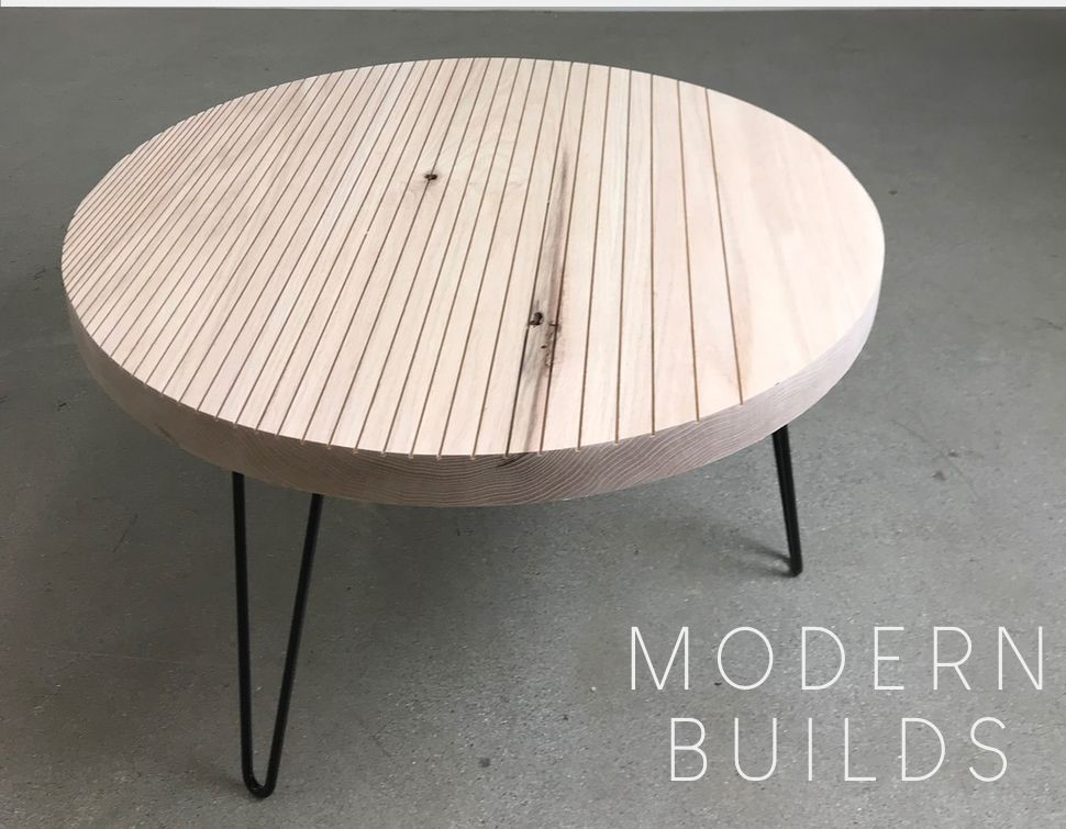 Modern Round DIY Coffee Table