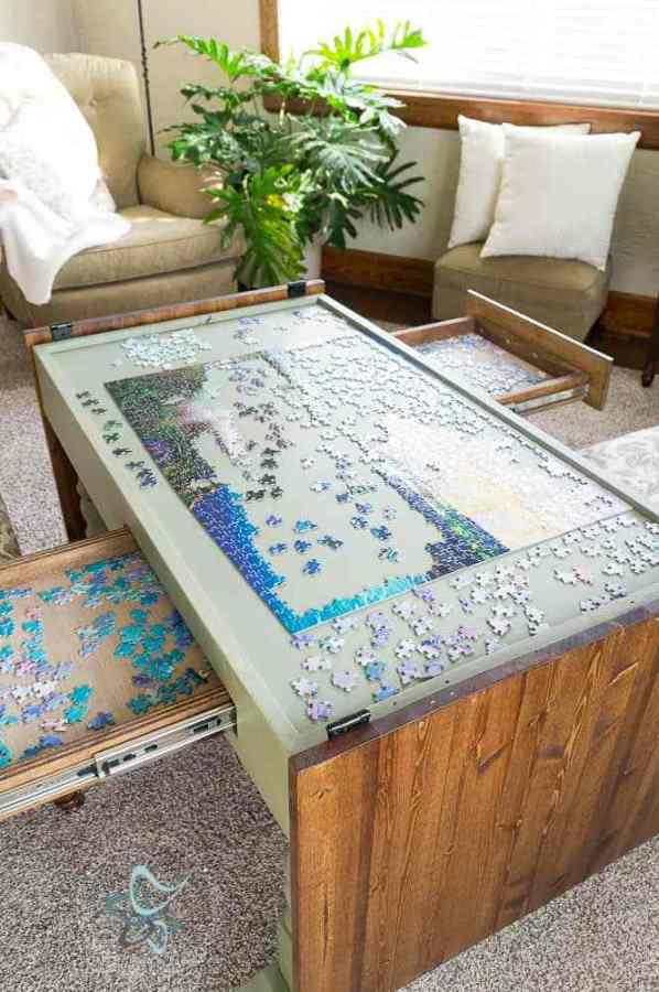 DIY Puzzle Coffee Table