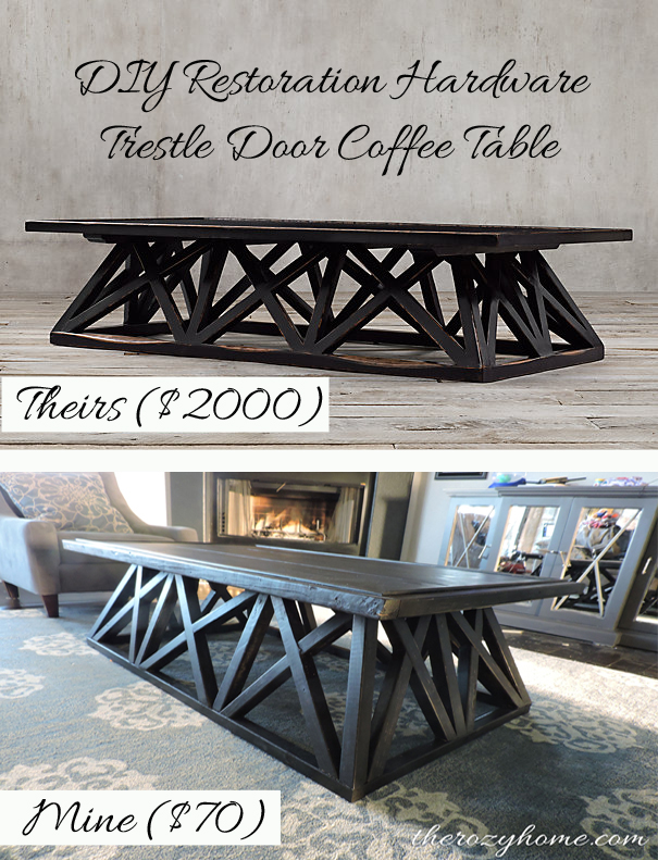 DIY Restoration hardware Door Coffee Table