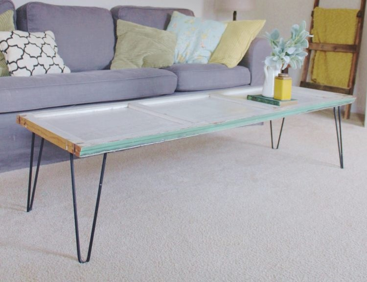 DIY Shutter Coffee Table