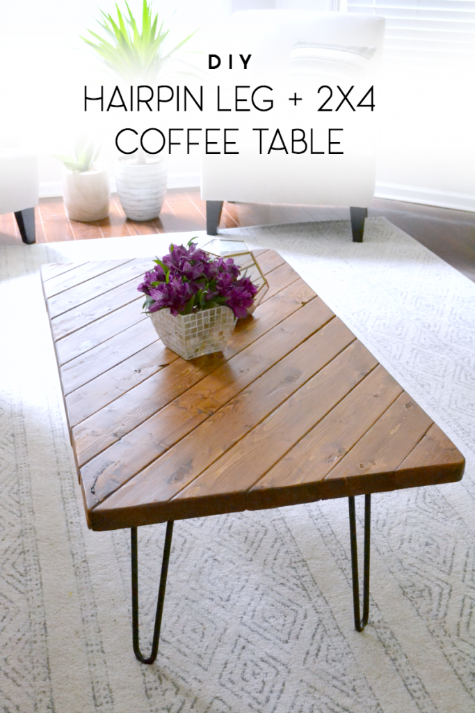 Easy 15 Minute DIY Hairpin Leg 2x4 Coffee Table DIY