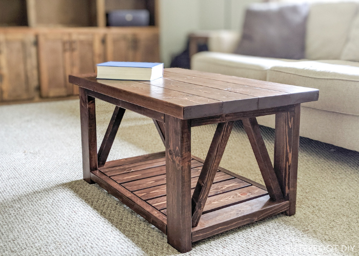 DIY Coffee Table With Truss Sides