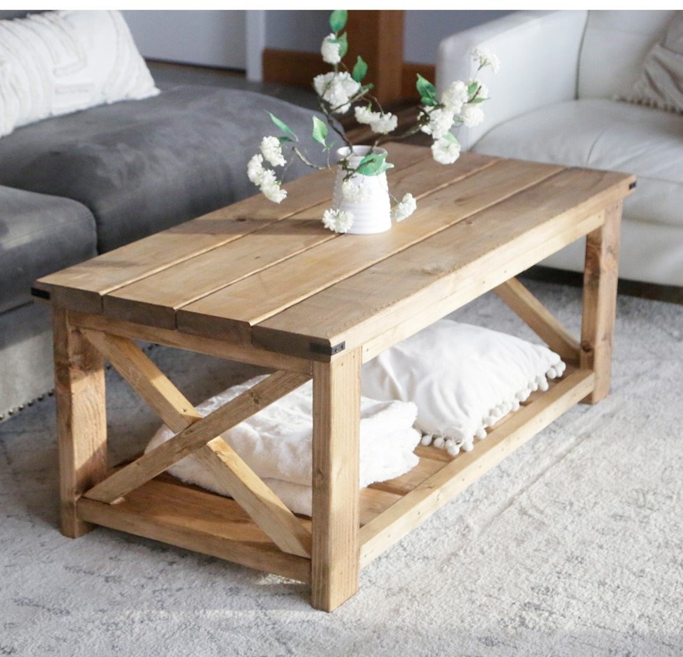 $40 DIY Coffee Table With Video Tutorial