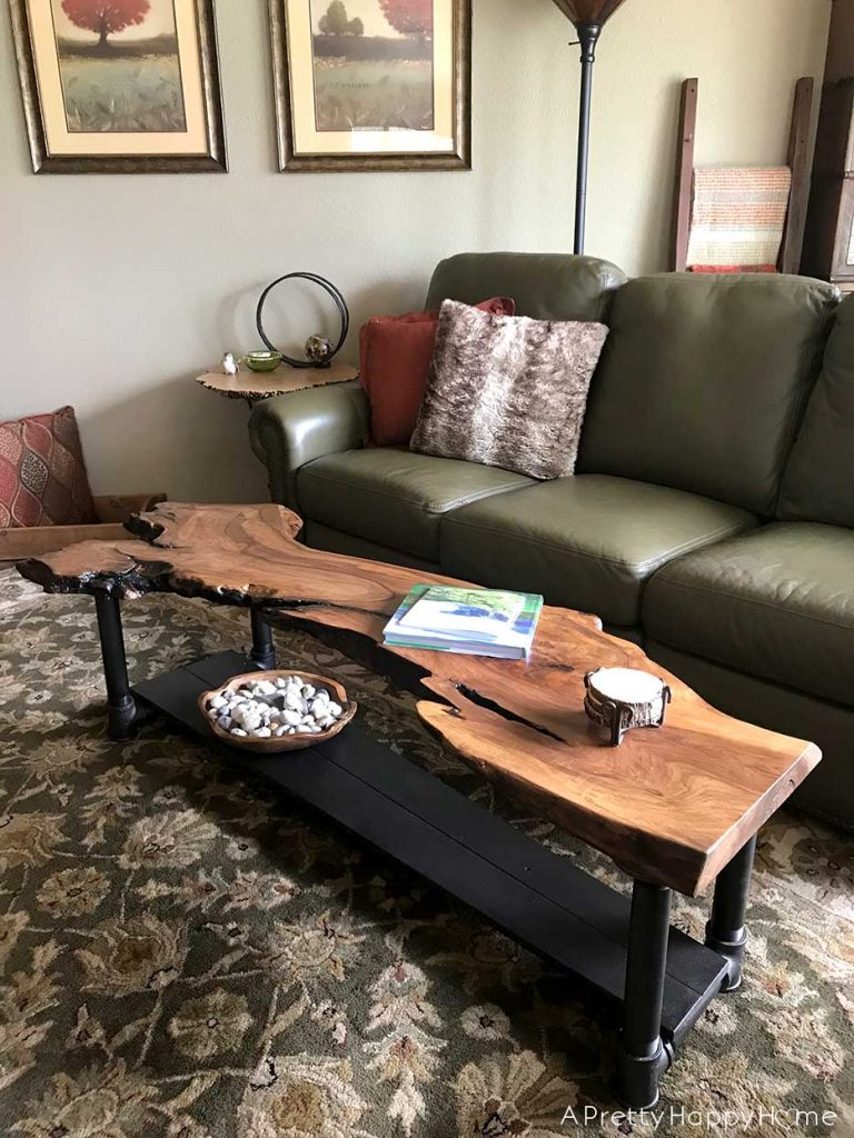 Live Edge Wood Coffee Table DIY