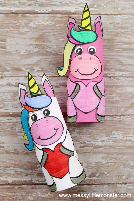 Cardboard-tube-unicorn-craft-preschooler