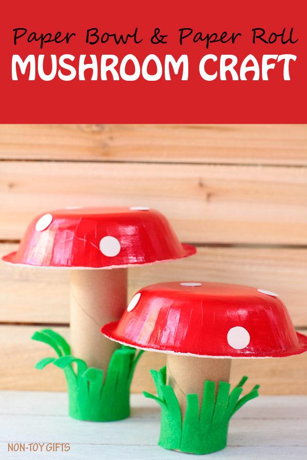 Paper-bowl-mushroom-craft