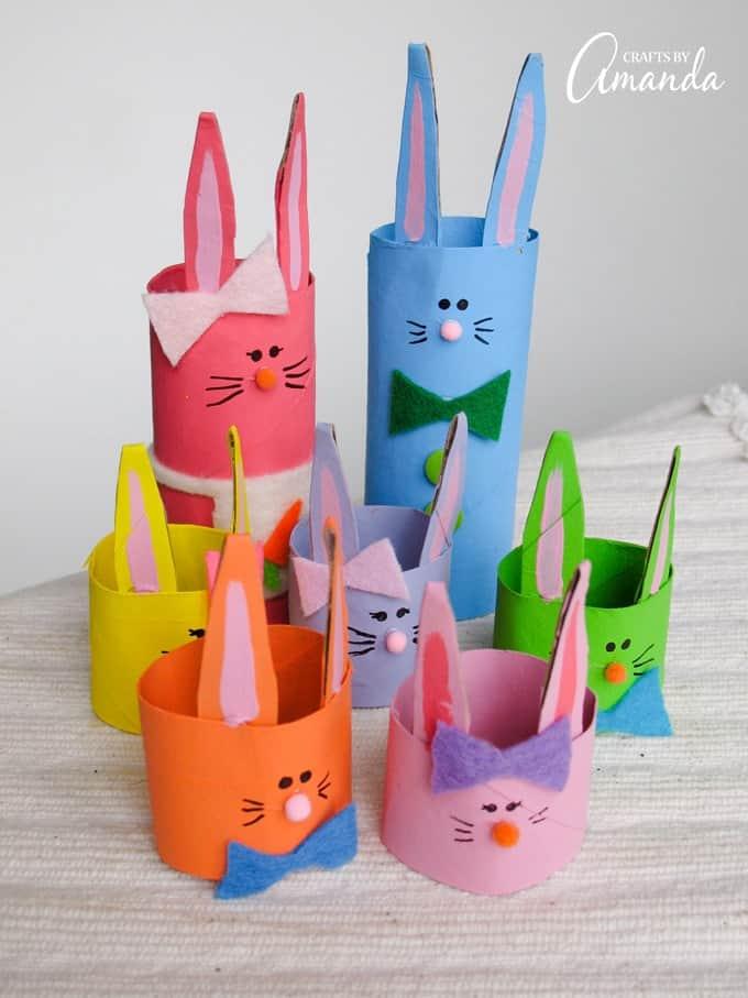 cardboard tube bunny rabbit craft