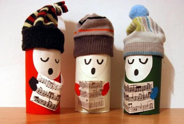 christmas village toilet paper roll crafts