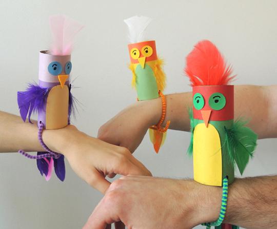 diy parakeets toilet paper roll craft