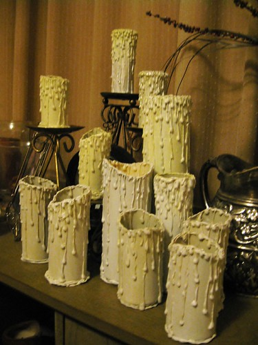 fake halloween candles toilet paper roll craft